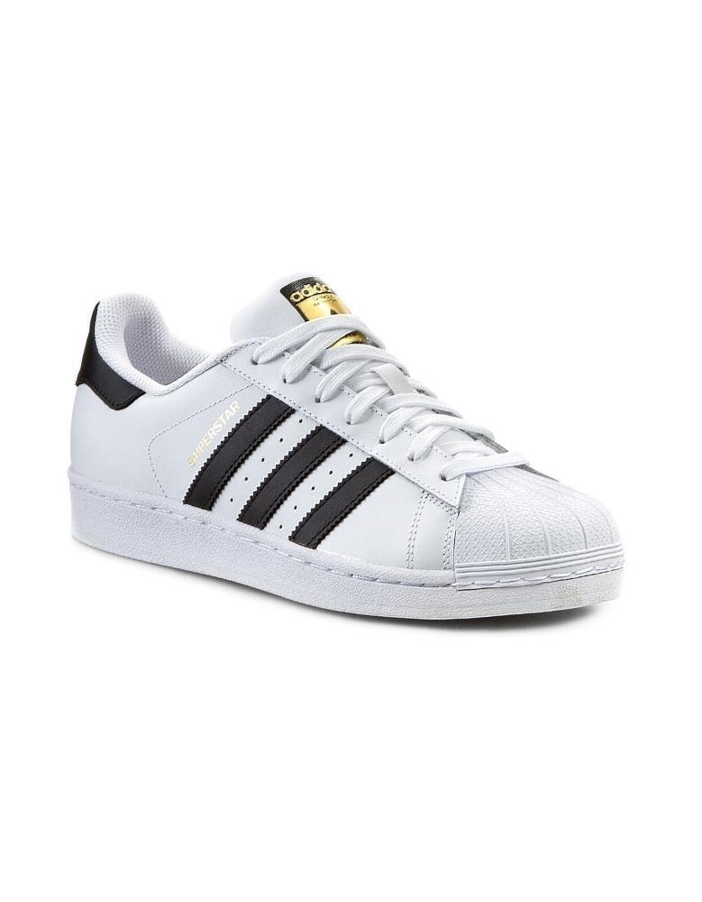 40af7ef597e2 Adidas Superstar Unisex Mens   Womens WHITE BLACK FOUNDATION Trainers