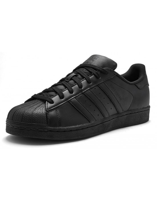 Mens Adidas Originals Superstar AF5666 All Black Leather Trainers - BNIB 2020
