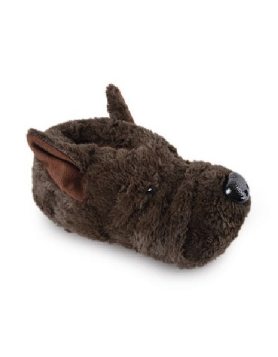 SlumberzZZ ' JACK' Unisex Funny Novelty Brown Dog Slippers