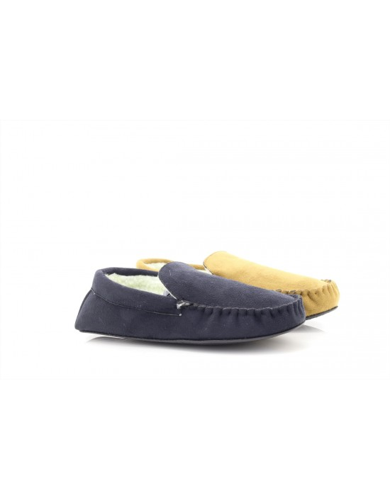 SlumberzZZ 'John' Mens Moccassin Fur-Lined Slippers