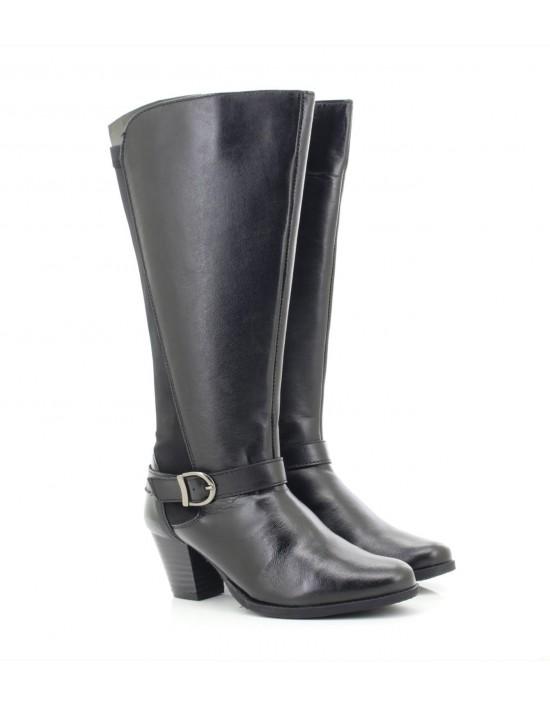 Womens Black Comfort Plus '18806' Soft Leather High Boots UK 3 - 8