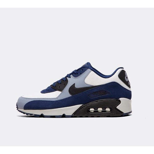 brand new c0b49 874ed Nike Air Max 90 cuir 302519 400 Mens formateurs bleu blanc chaussures de  course