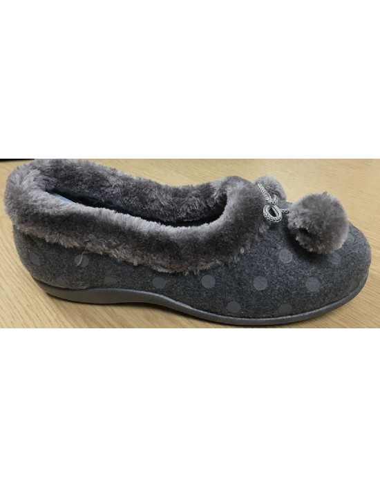 Sleepers MARGE Pom-Pon Polka Dot Cuff Slipper