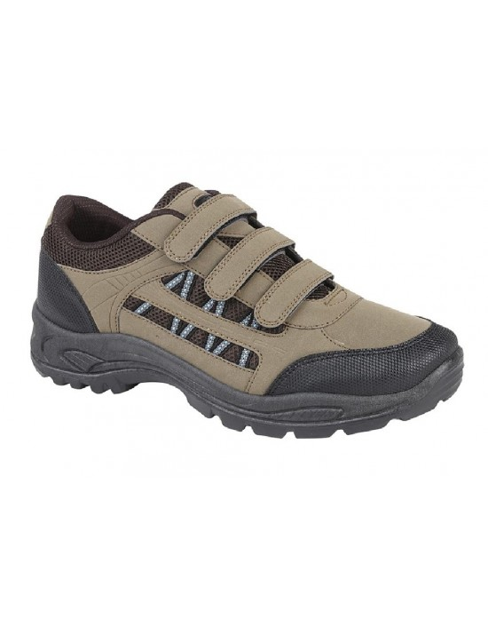 Dek ASCEND Unisex Touch Fasten Trekking Trainers Shoes Khaki