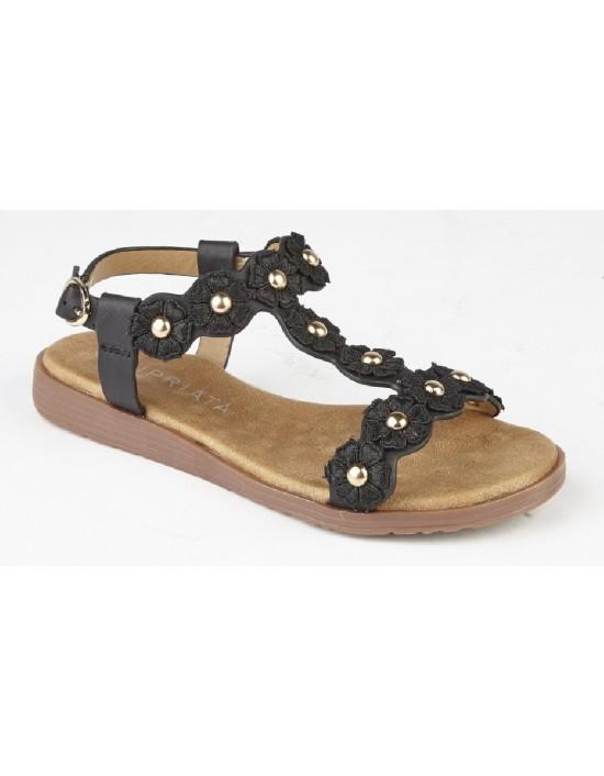CIPRIATA 'ESTELLA' G619 Girls Multi Flower Textile Summer Sandals