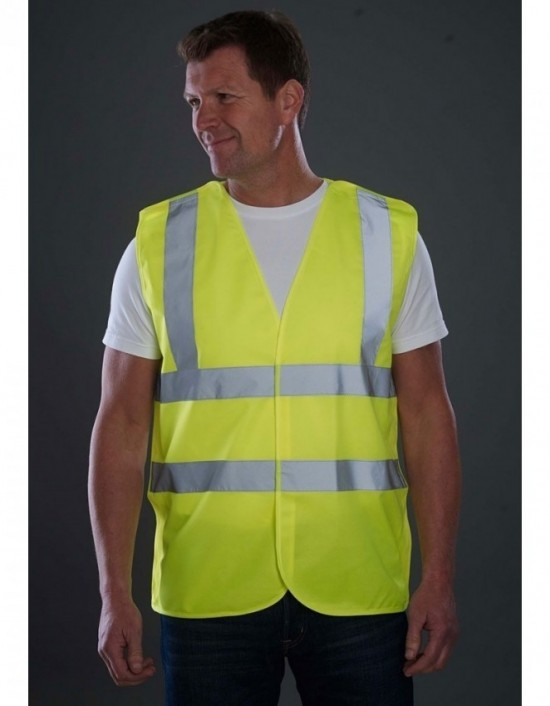 Sundry High Visibility Vest Hi Viz Yellow Waistcoat Site Safety Clothing