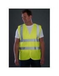Sundry High Visibility Vest Hi Viz Yellow Waistcoat Site Safety Clothing