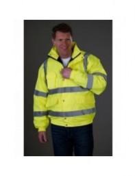 GRAFTERS PP023 Hi-Visibility Waterproof Bomber Jacket HI-VIZ Fluo Yellow