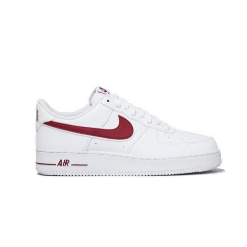 nouveau concept cac2c 64b88 Details about Mens Nike Air Force 1 '07 White Gym Red Leather Trainers UK  Size AO2423-102 BNIB