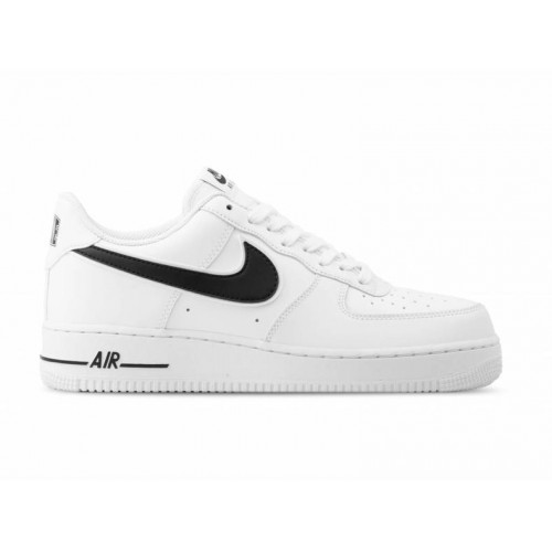 best service c972c 3f63c Mens Nike Air Force 1  07 Leather Trainers White Black UK Size AO2423-101  BNIB 2019