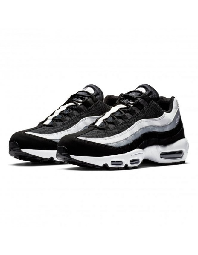 12a5511fd9c93 New Nike Men s Air Max 95 Essential Running Shoes Multicolour  (Black White Wolf Grey