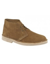 Roamers Unisex Suede Lace-Up Ankle Desert Boots
