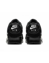 Mens Nike Air Max 90 Essential Triple Black Chequered Trainers Shoes