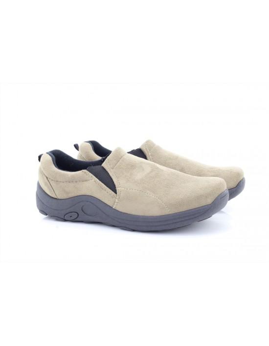 Street feet Unisex Twin Gusset Jungle Casual Shoes Beige
