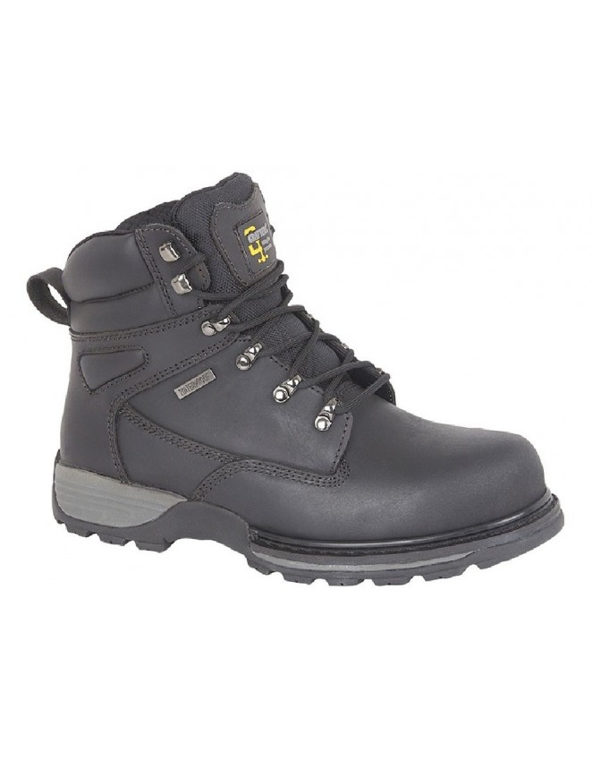 5b67b420950 Mens Black Waterproof GRAFTERS Leather Hiker Safety Boots