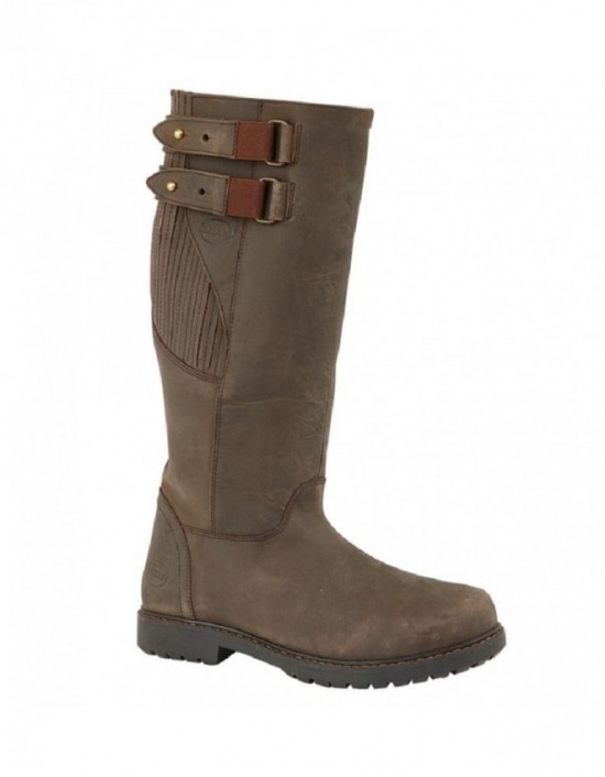Mens WOODLAND BLAKE Waxy Leather Zip Country Boots
