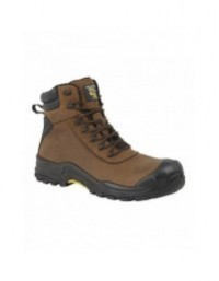 Mens Composite Non Metal GRAFTERS Crazyhorse Leather Work Boots