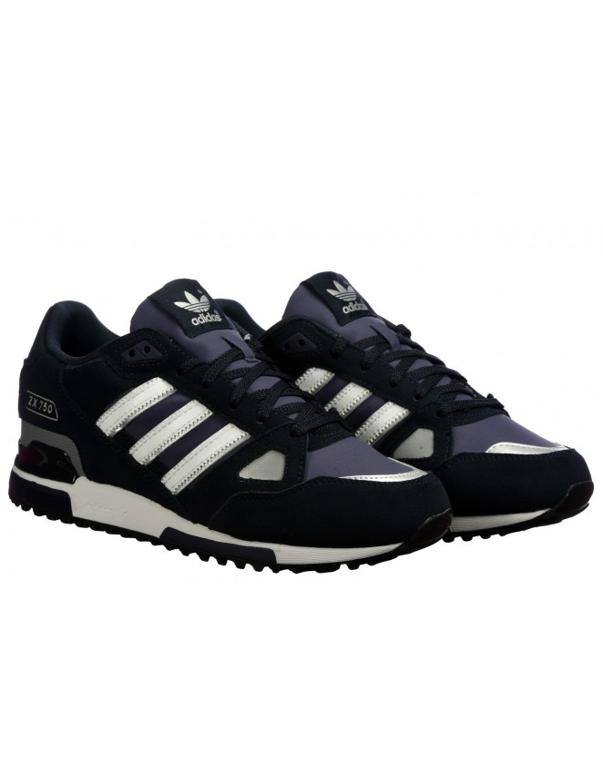 bas prix d62ee 853b3 Adidas ORIGINALS ZX 750 Mens Trainers Running Shoes Navy Sneakers UK S