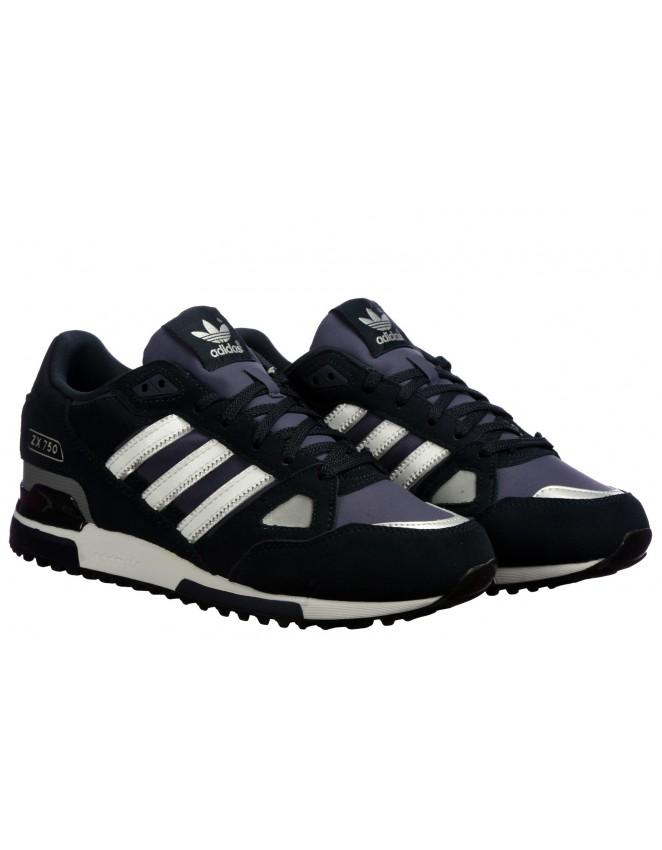 acampar modelo fondo  Adidas ORIGINALS ZX 750 Mens Trainers Running Shoes Navy Sneakers UK S
