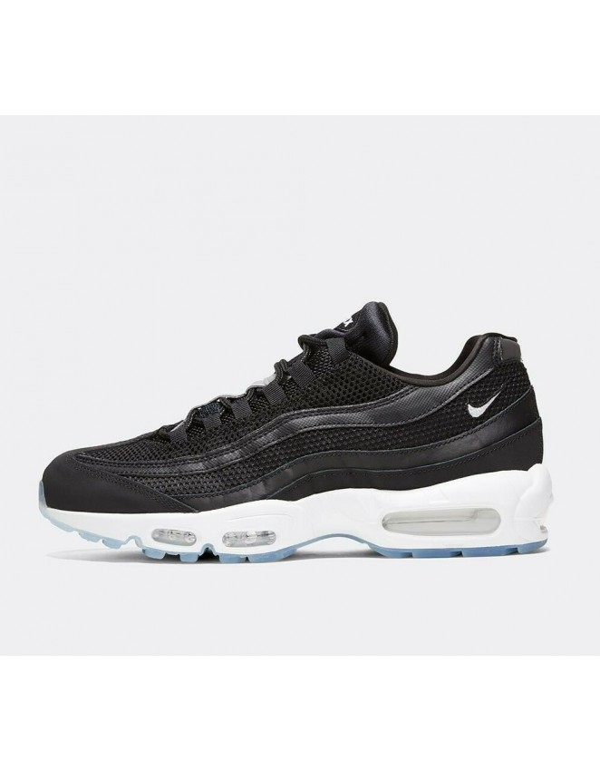 low priced a6a31 a1f1a Nike Air Max 95 Essential Black/White/Reflect Silver Shoes NEW 2019