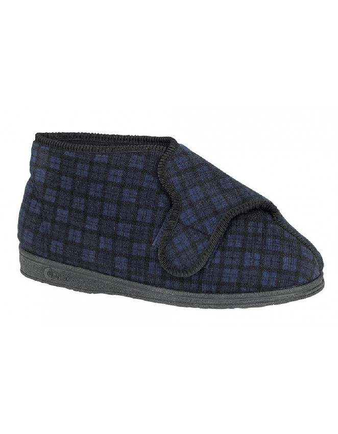 mens-bootee-slippers-comfylux-textile-boots