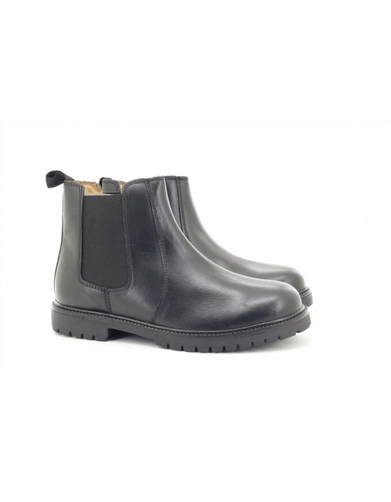 Chatterbox Aiden Boys leather twin Gusset Chelsea Boots UK2 -UK6
