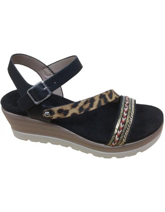 CIPRIATA /'ADONA/' L073 Mid Heel Buckle Halter Back Sandals
