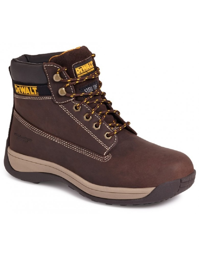Honey Nubuck Mens Safety Boots 11 UK DeWalt Apprentice 45 EU