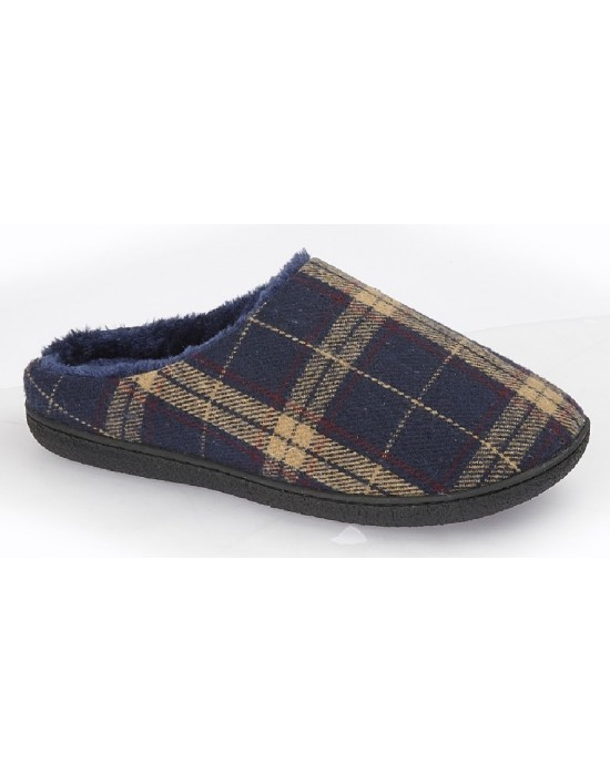 mens-mule-slippers-zedzzz-fabian-check-textille