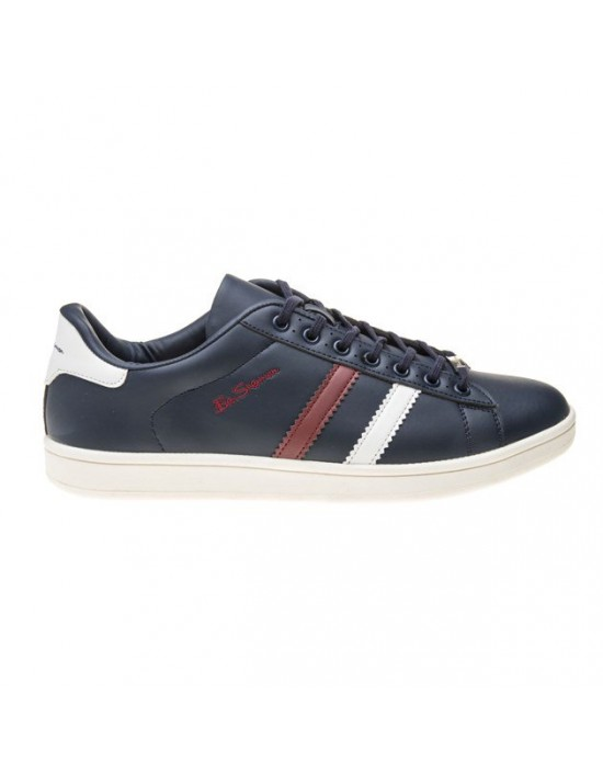Mens Ben Sherman Navy Gustavo 2 Synthetic Trainers Court Lace Up