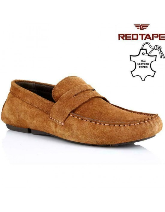 Red Tape Cranfield TAN Suede Leather Casual Mens Driving Shoes Loafer