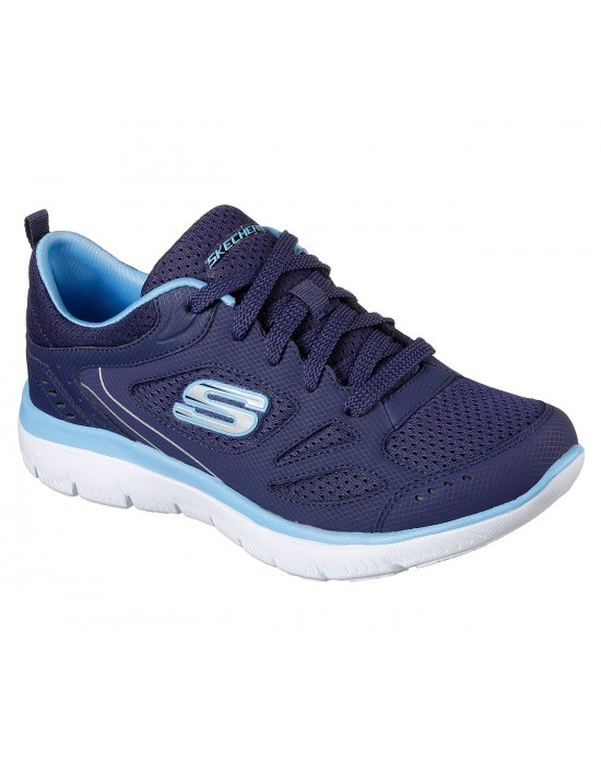 Skechers Women's Summits SUITED Navy Blue Athletic Trainers