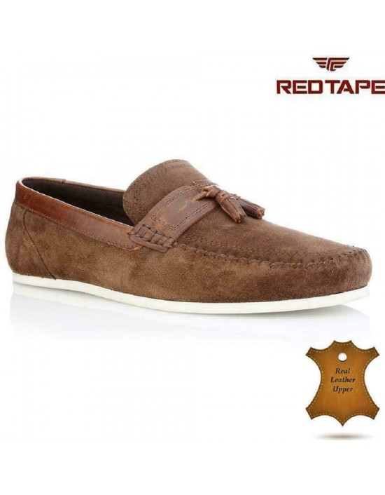 Red Tape HOUGHTON Mens Premium Suede Leather Smart Casual Tassel Penny Loafers