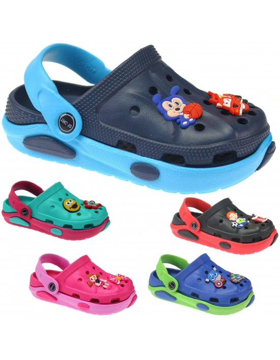 NEW BOYS FLIP FLOPS GIRLS SUMMER SANDALS CLOGS BEACH MULES HOLIDAY SHOES COMFORT