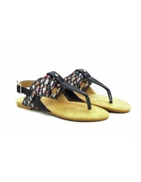 Ladies Women Iridessa Flat Toe Post Buckle Slingback Sandals For All Occasions