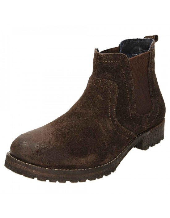 RED TAPE Clifton Suede Leather Dealer Pull On Chelsea Boots Waxy Brown