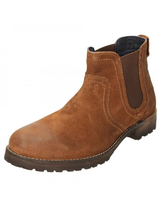 RED TAPE Clifton Suede Leather Dealer Pull On Chelsea Boots Waxy Wood