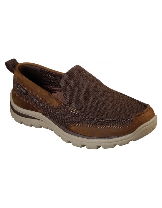 Skechers Superior Milford Mens Casual Sports Shoes Brown