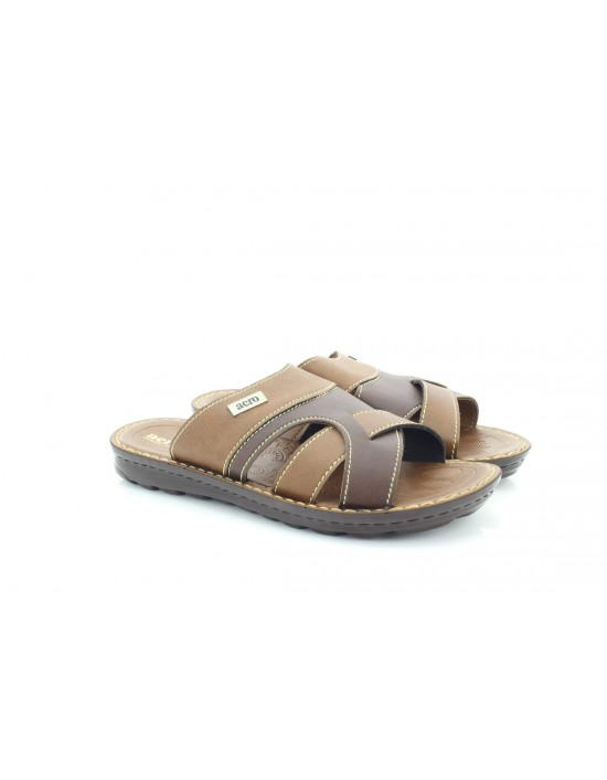 Aerosoft Open Toe Mens Orthopaedic Sandals Black Brown
