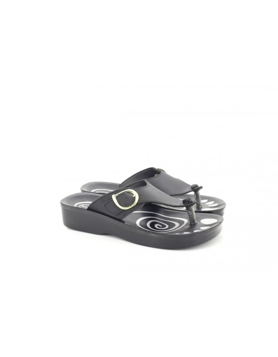 Aerosoft Ladies Sandals Orthopaedic Comfort Sandals Buckle Style Black Brown