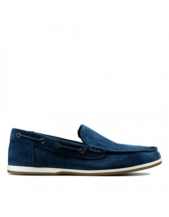 Mens Clarks Originals 'Morven Sun' Navy Leisure Boat Comfort Shoes