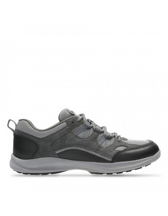 Clarks Wave Vista Grey Suede Sporty Hiking Trail Outdoor Comfort Trainers