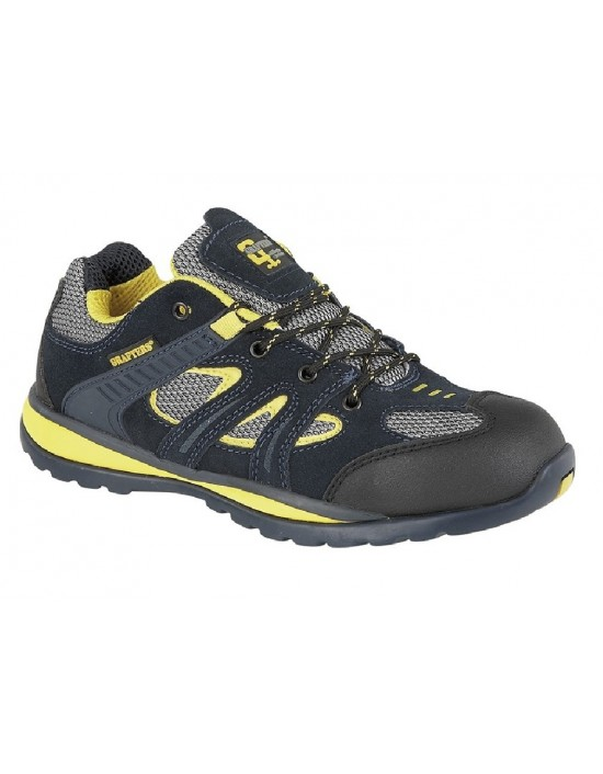 Grafters M401C Navy Mesh Safety Toe Cap Trainer Shoes