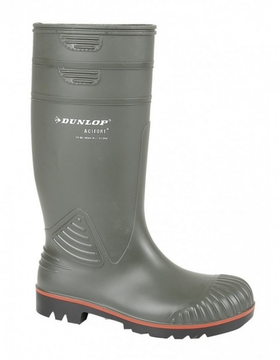 Dunlop ACIFORT W138 Heavy Duty Full Safety' Wellingtons