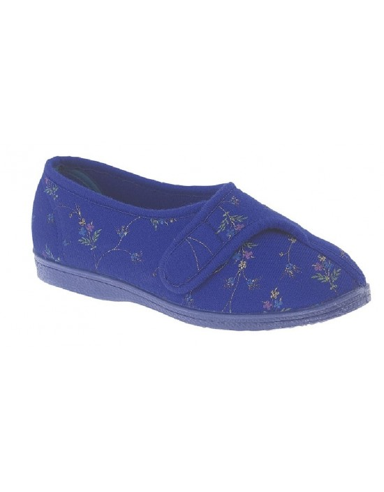 Sleepers DORA LS628 Touch Fastening Slipper Washable Indoor EE Fitting