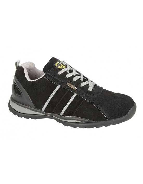 Grafters Unisex '090' Lace Up Safety Toe Cap Trainer Shoes