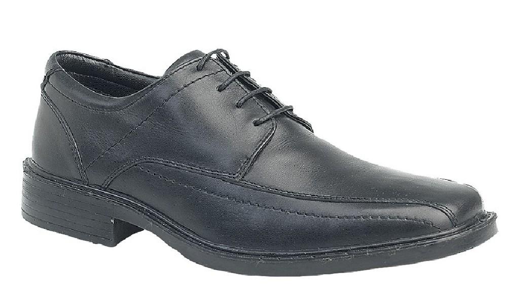 Mens ROAMERS 'Lightweight' 4 Eye Tramline Panel Tie Shoes