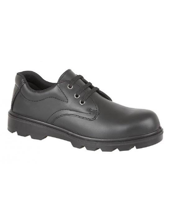 Grafters M361A Plain 3 Eye Safety Toe Cap And Steel Midsole Shoes