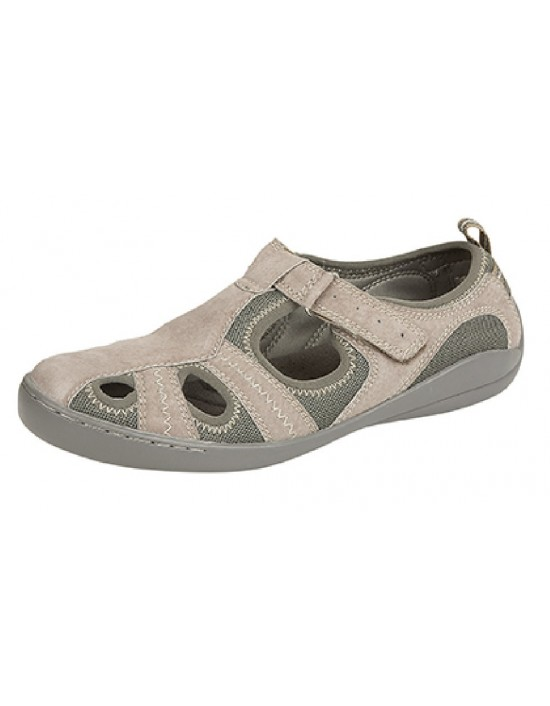 Ladies Boulevard Fiza Touch Fastening Summer Casual Trekking Canvas Trainer Shoes