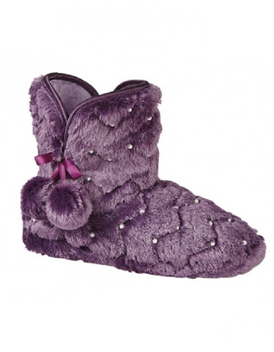 ladies-bootee-slippers-zedzzz-lisa-textile-boots